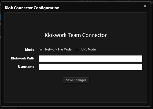Klokwork Team Connector configuration